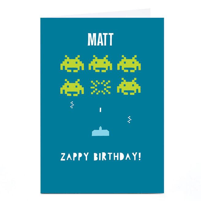 Personalised Whale & Bird Birthday Card - Zappy Birthday