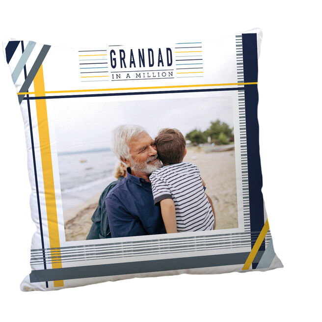 Personalised Father's Day Photo Cushion - Grandad In A Million