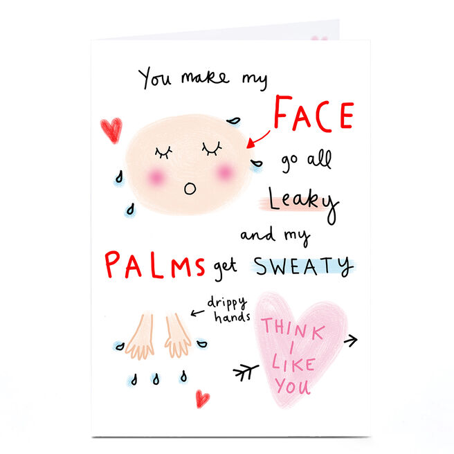 Personalised Lindsay Kirby Card - Leaky Face