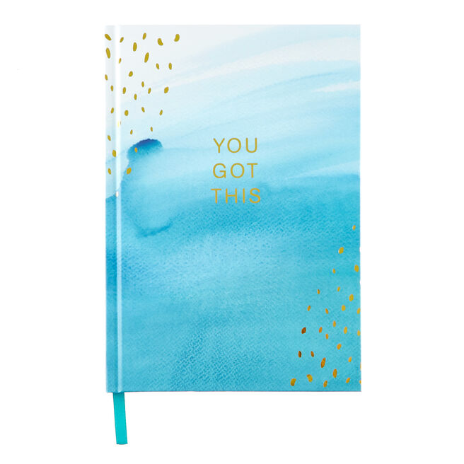 """Blue Watercolour You Got This"""" A5 Notebook """""""