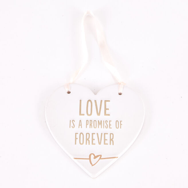 Ceramic Hanging Heart Keepsake