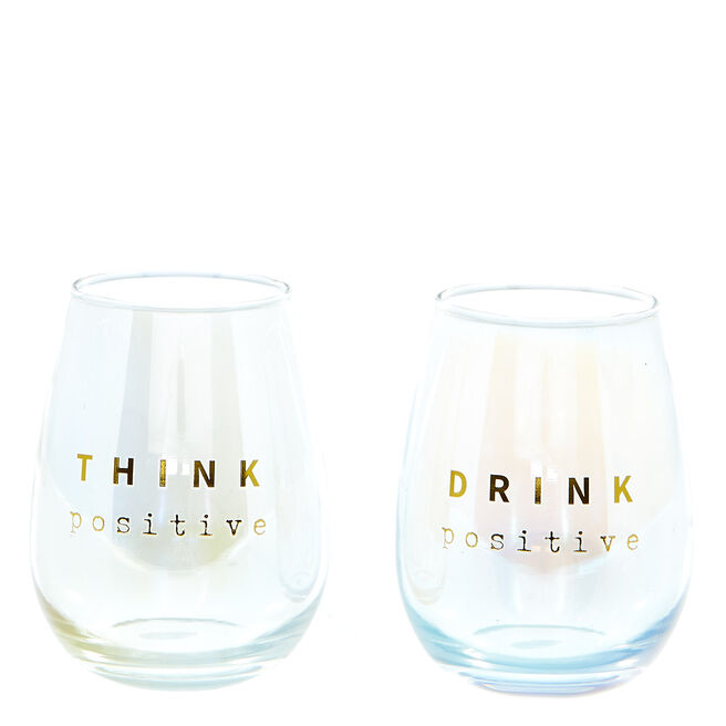 Happy Rainbows Gin Glasses Gift Set