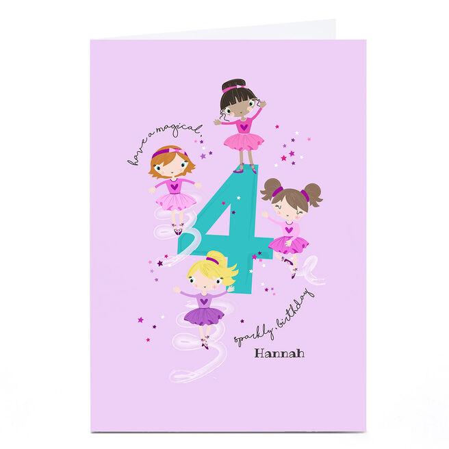 Personalised Rachel Griffin Birthday Card - 4, Sparkly Birthday