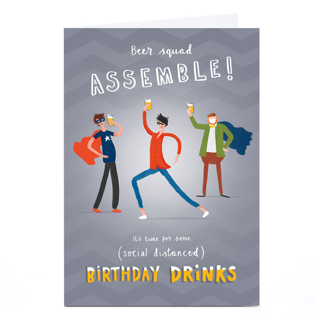 Personalised Andrew Thornton Birthday Card - Beer Squad