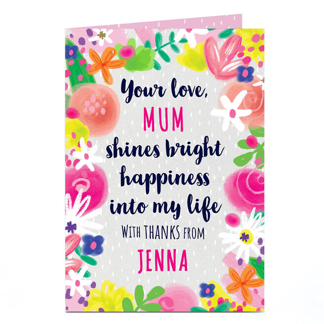 Personalised Card - Shines Bright Happiness