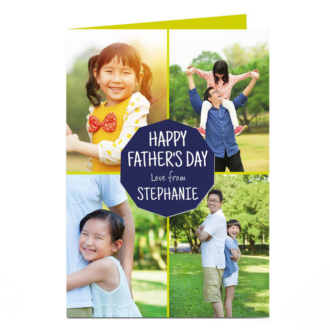 Multi Photo Father's Day Card - Four Corners