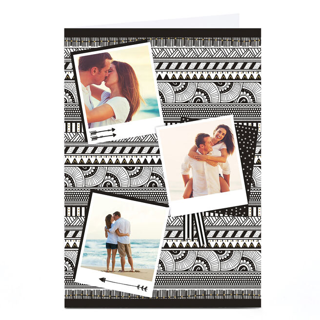 Photo Card - Monochrome Aztec