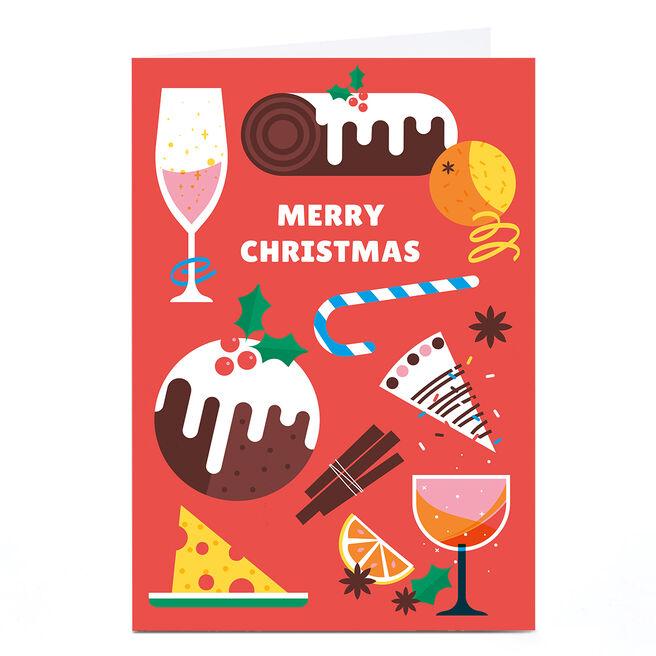 Personalised Neil Clark Christmas Card - Festive Food