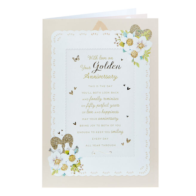 50th Anniversary Card - Fifty Perfect Years