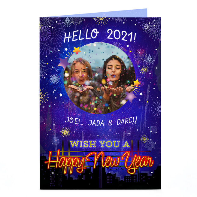 Photo Happy New Year Card - Hello 2021!