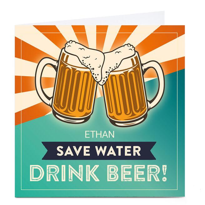 Personalised Banghead Card - Drink Beer