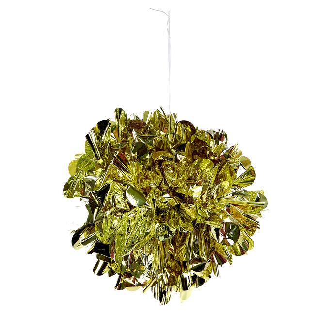 Foil Pom-Pom Party Decoration - Gold