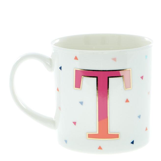 Letter T Alphabet Mug