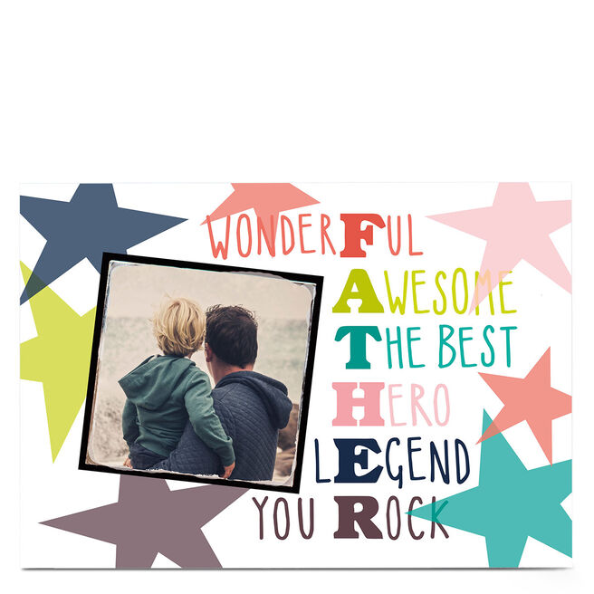 Photo Bev Hopwood Father's Day Card - Wonderful, Awesome Father