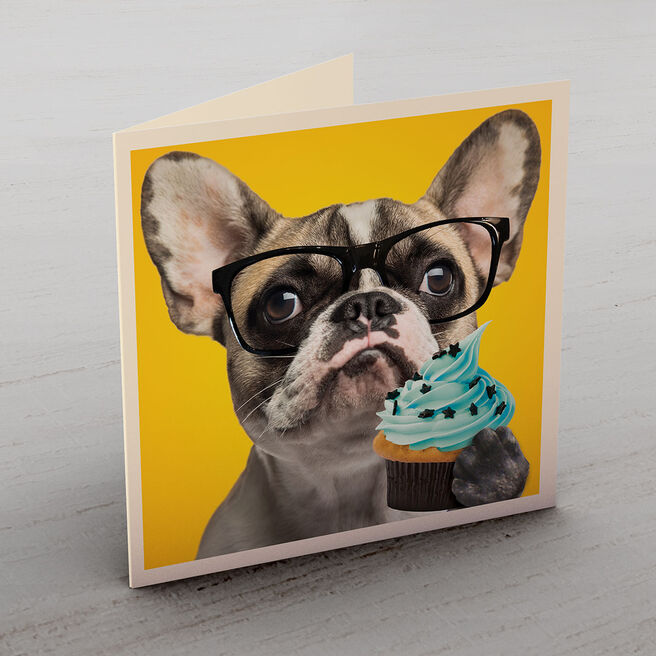 Personalised Card - Dog & Cupcake