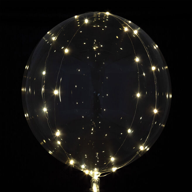 Crystal Clearz White 32-Inch LED Balloon
