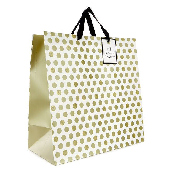 Giant Cream & Gold Gift Bag - A Special Gift