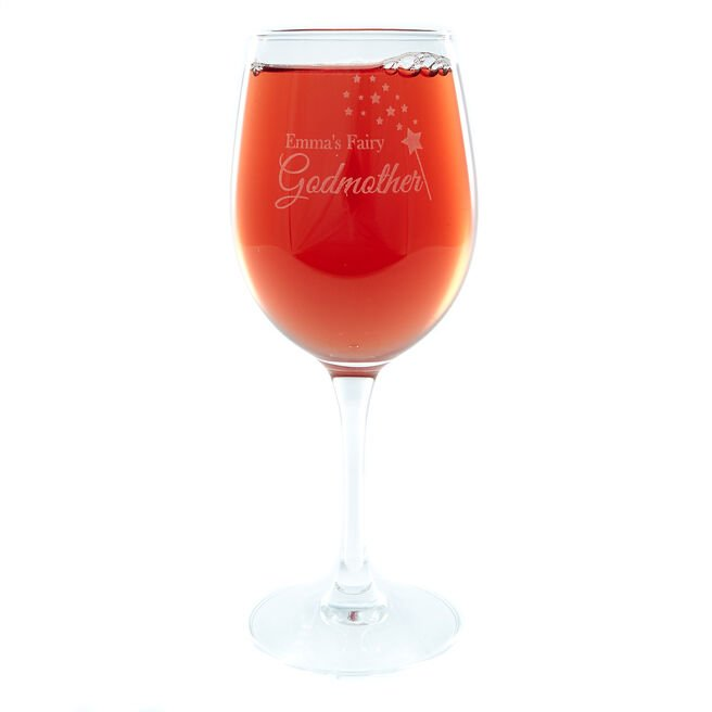 Personalised Wine Glass - Fairy Godmother