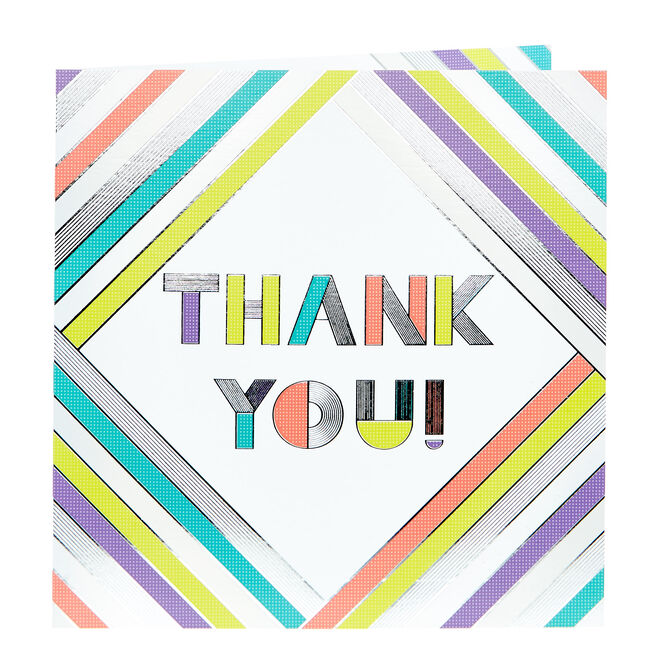 Platinum Collection Thank You Card - Bold Stripes