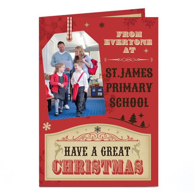 Photo Upload Christmas Card - Gift Tag