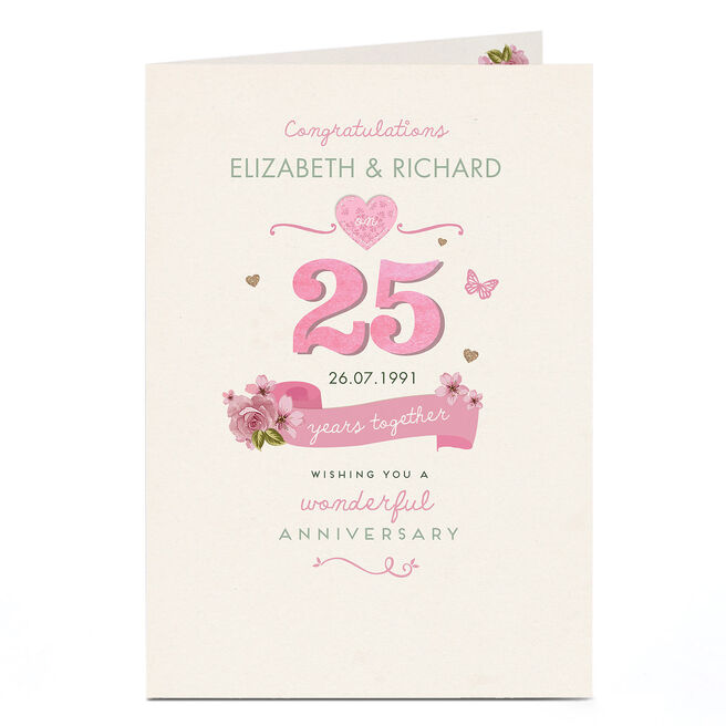 Personalised Anniversary Card - 25 Years Together