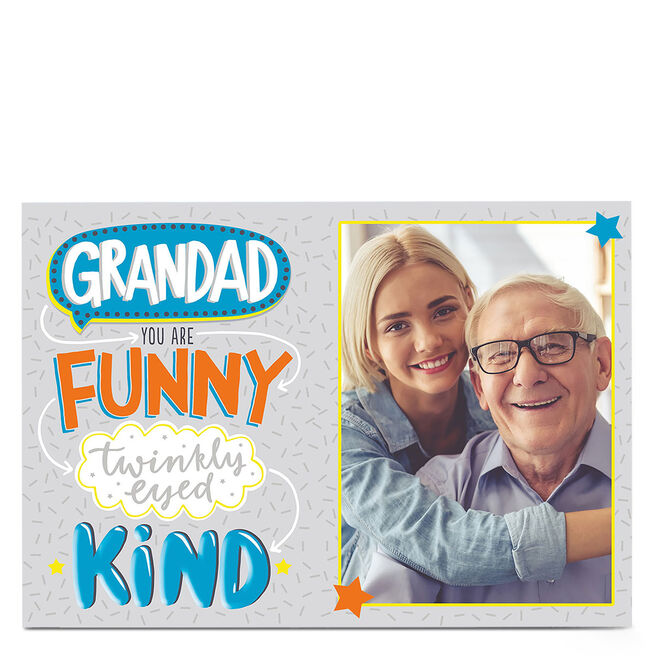 Photo Card - Grandad, Funny & Twinkly-Eyed