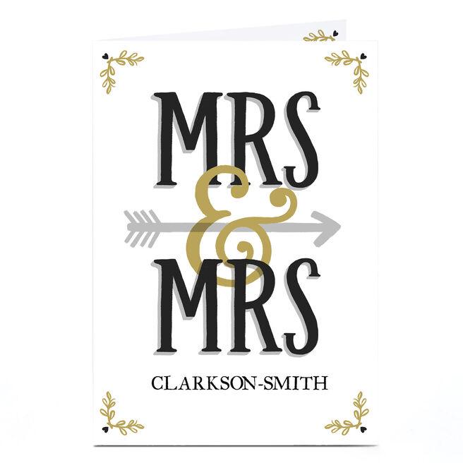 Personalised Wedding Card - Mrs & Mrs