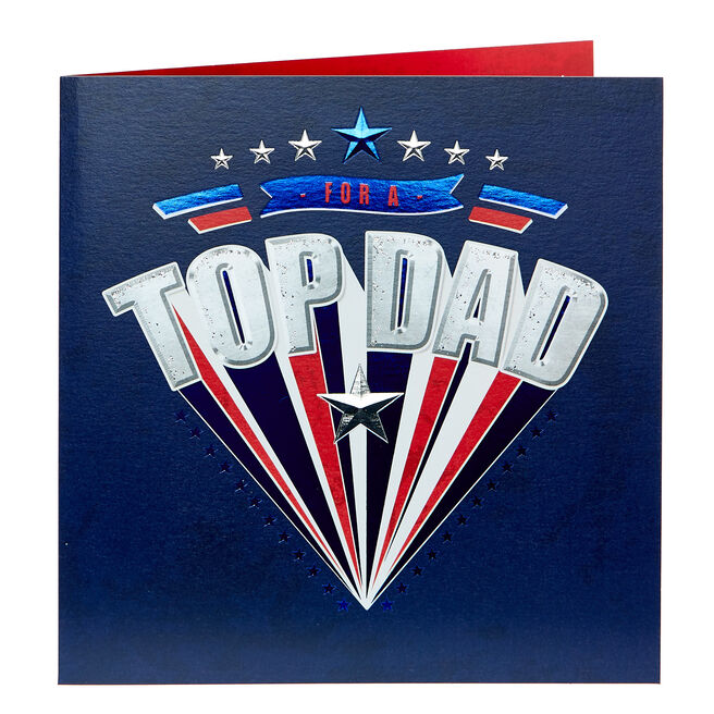 Platinum Collection Father's Day Card - Top Dad