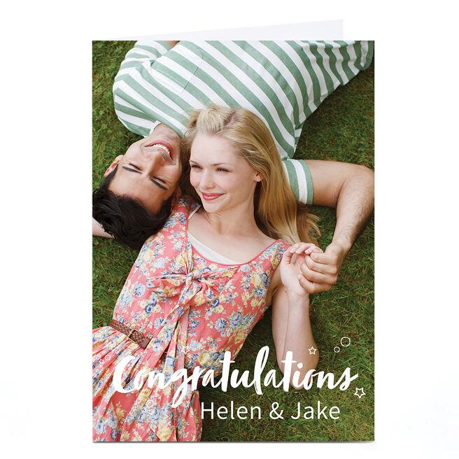 Personalised Congratulations Photo Card - Congratulations Couple