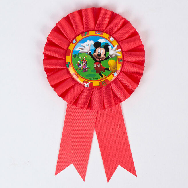 Disney Mickey Mouse Red Rosette Ribbon