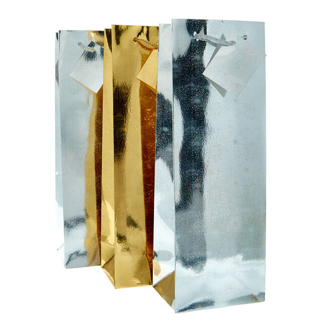 Gold & Silver Bottle Bags - Pack Of 3