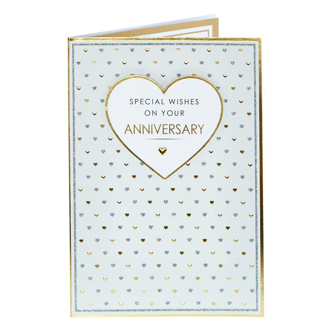 Anniversary Card - Special Wishes Gold & Silver
