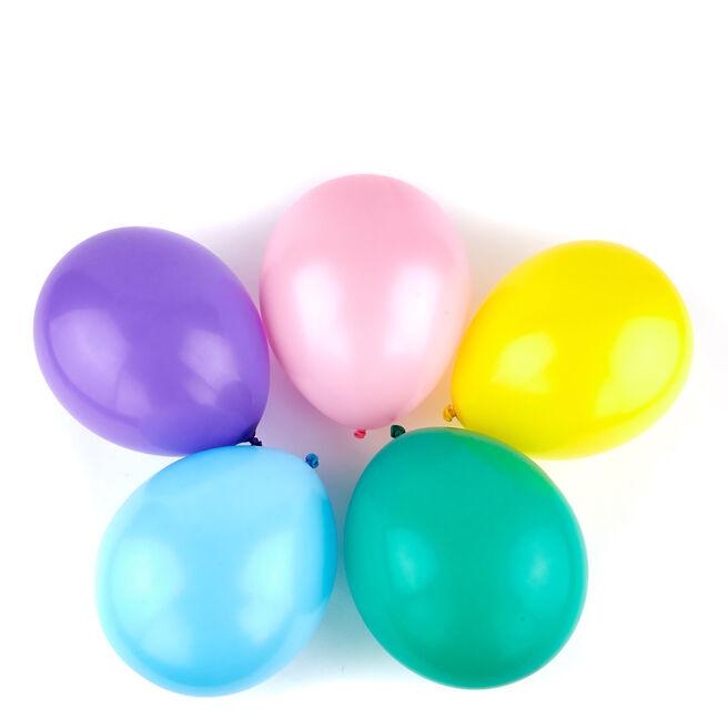 50 Premium Helium-Quality Latex Balloons - Assorted Colours