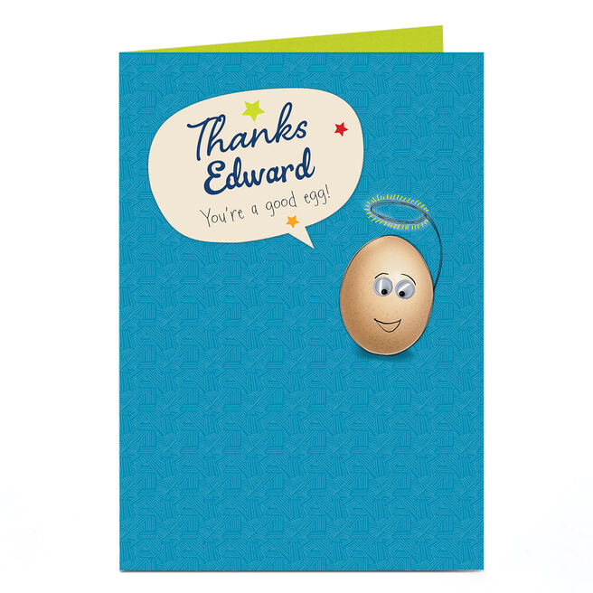 Personalised Thank You Card - You're A Good Egg