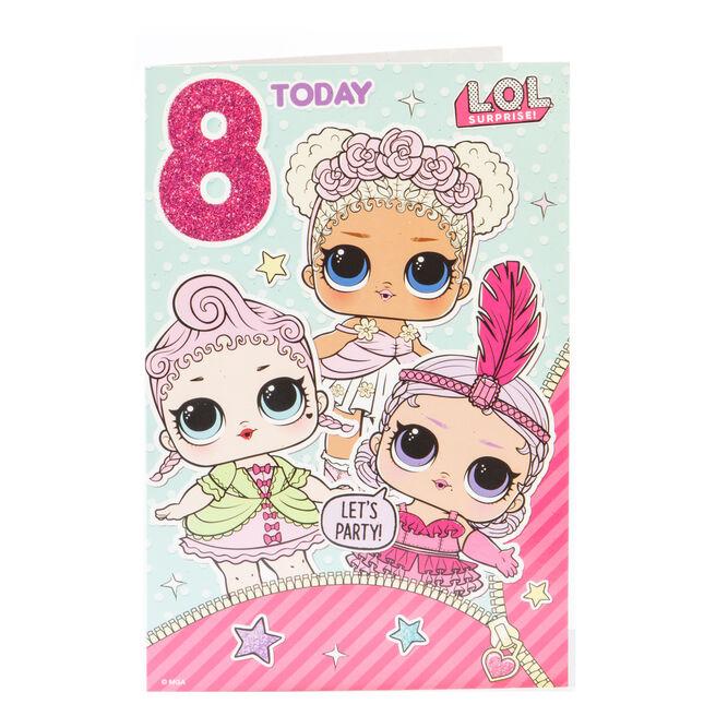 L.O.L. Surprise! 8th Birthday Card