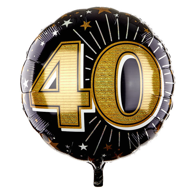 31 Inch Foil Balloon - Age 40 Gold 16448