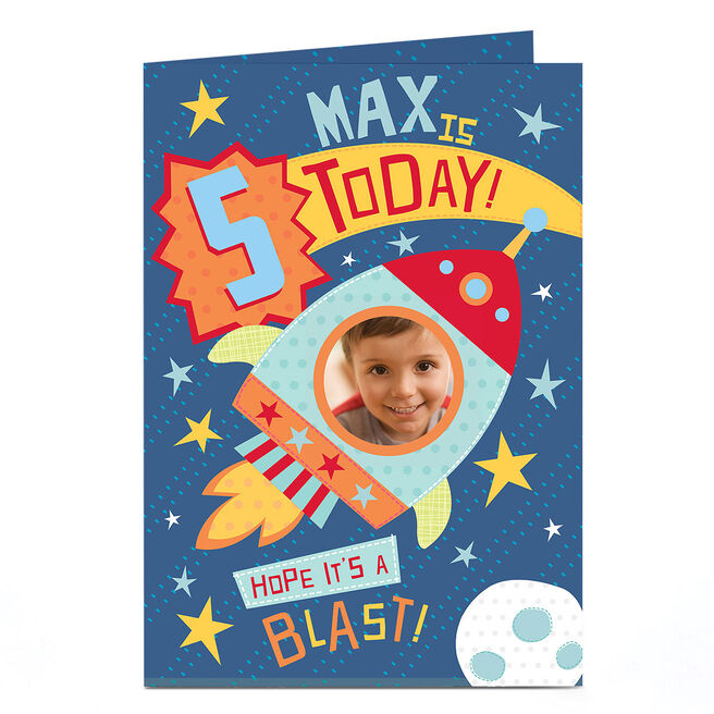 Photo Birthday Card - Hope It's A Blast, Any Age