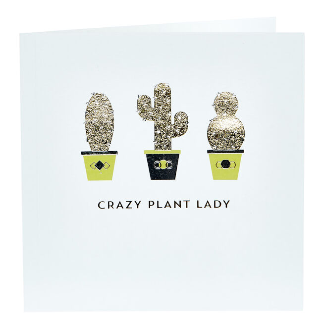 Any Occasion Card - Crazy Plant Lady