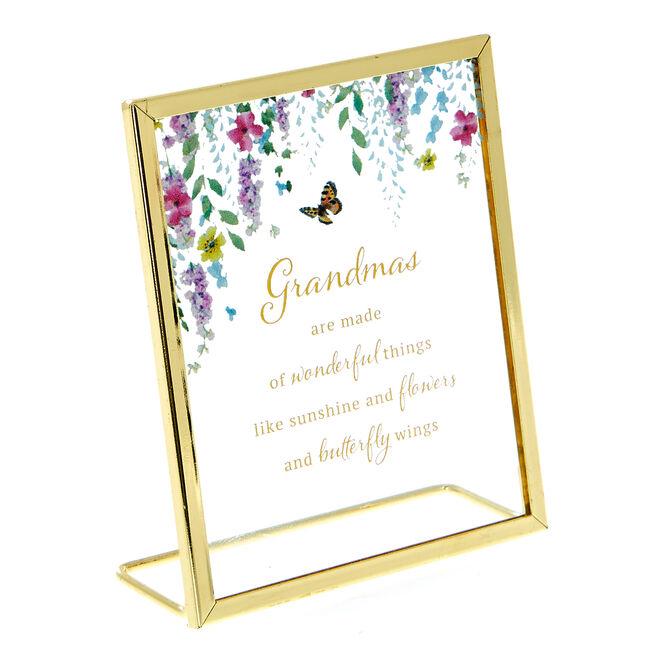 Secret Garden Miniature Grandma Plaque