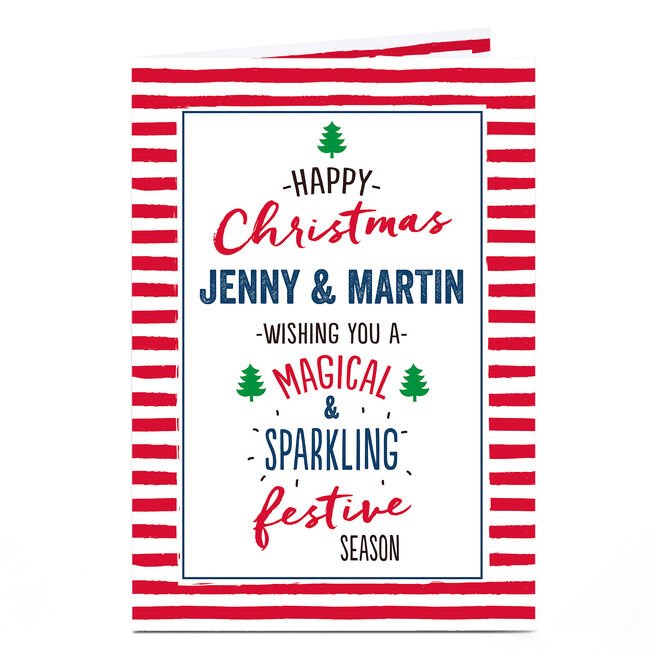 Personalised Christmas Card - Magical & Sparkling