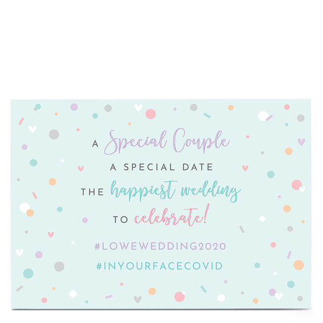 Personalised Lockdown Wedding Card - Happiest Wedding