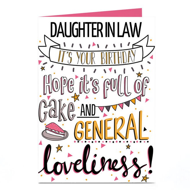 Personalised Birthday Card - Daughter In Law, General Loveliness