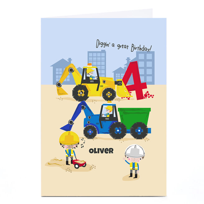 Personalised Rachel Griffin Birthday Card - Diggin' A Great Birthday, 4