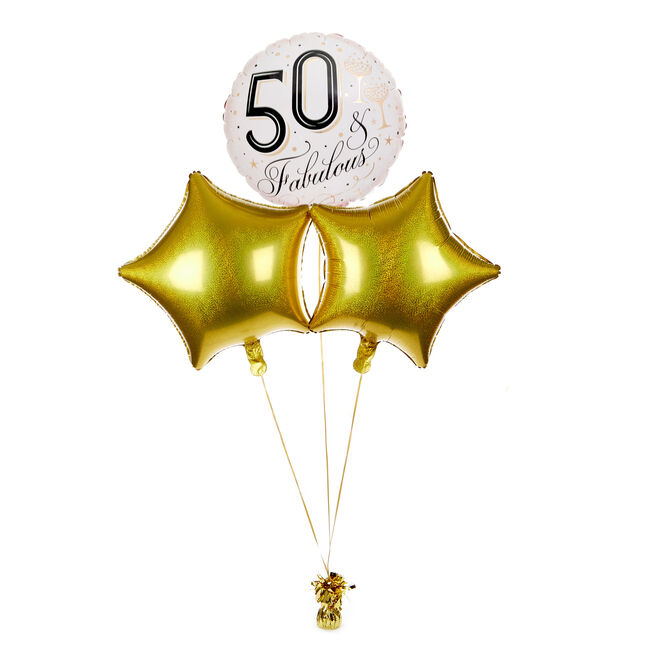 50th Birthday Balloon Centerpiece For Tables In A Royal Blue Silver Theme 50th Birthday Balloons Balloon Table Centerpieces 50th Birthday Centerpieces