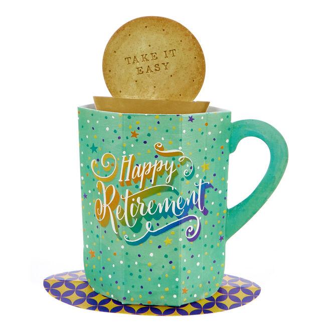 Boutique Collection 3D Retirement Card - Cup Of Tea