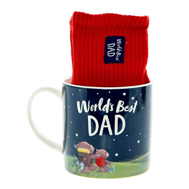 World's Best Dad Hugs Mug & Socks Set
