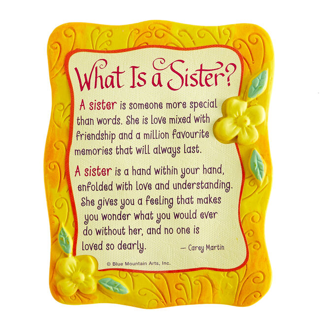 Blue Mountain Arts Magnet - What Is A Sister?