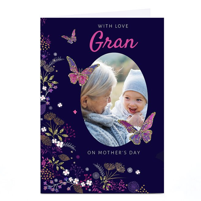 Photo Kerry Spurling Mother's Day Card - Gran, Butterflies