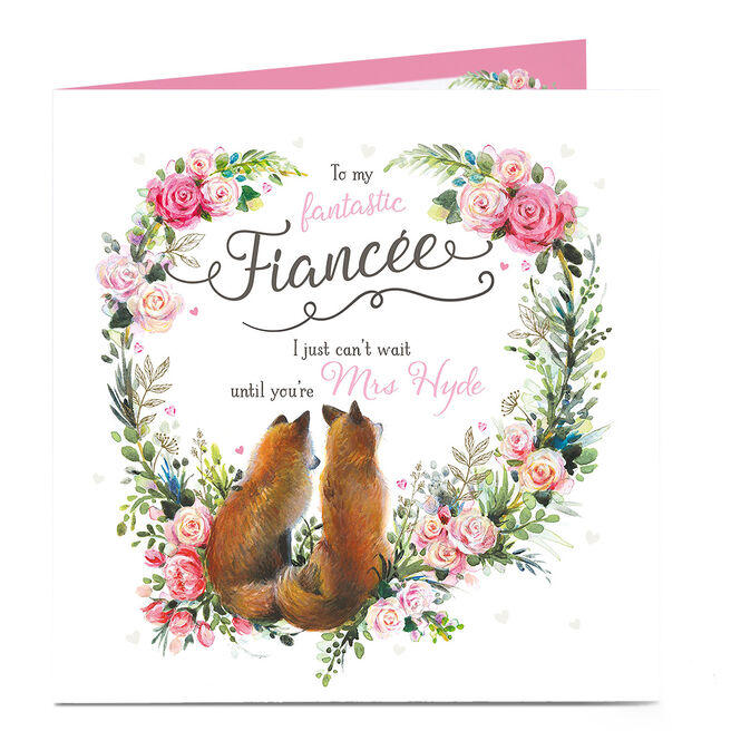 Personalised Card - I Can't Wait Until You're My Wife