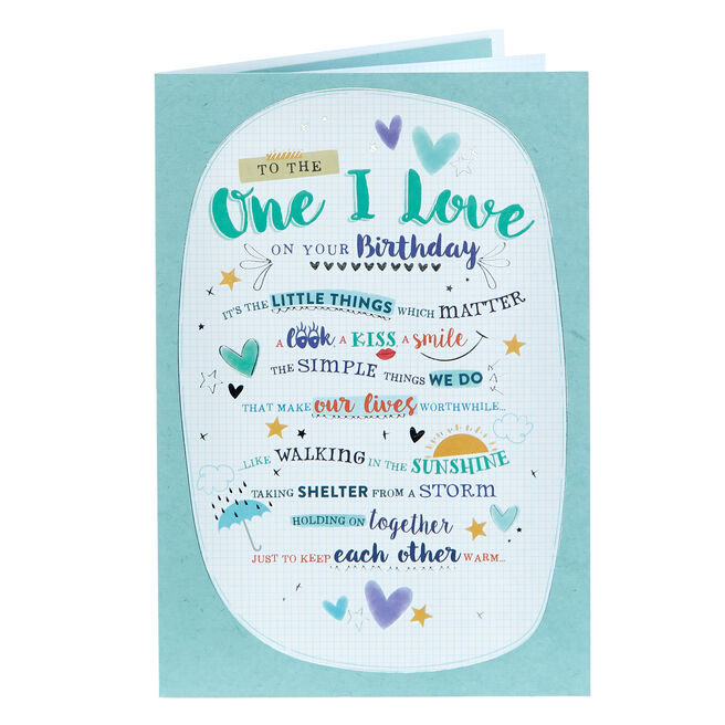 Birthday Card - The One I Love, Little Things